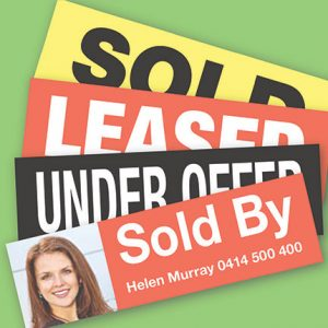 Sold Leased Stickers