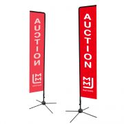 Single Sided Rectangle Flag For Real Estate